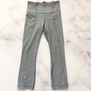 Lululemon High Waisted Cropped Ankle Zipper Pants